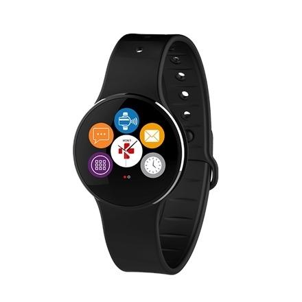 e8a9dfbb17d MyKronoz ZeCircle2 Smartwatch, Black, 55 mAh, Touchscreen, Bluetooth,  Waterproof