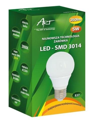 e90cf84e22d Hinnavaatlus - ART LED-pirn E27, 5W, 40xSMD3014, AC230V, 350lm Warm ...