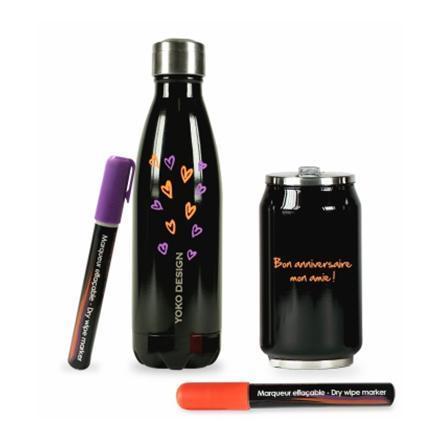 Campinggeschirr Shiny purple Yoko Design Isothermal Bottle 500 ml
