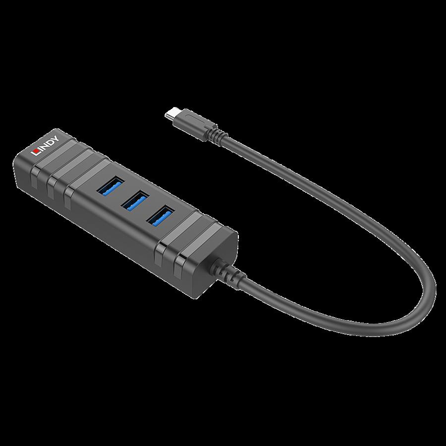 c13098b7790 Lindy Võrgukaart: USB 3.1 Hub + Gigabit Ethernet Adapter (43249)