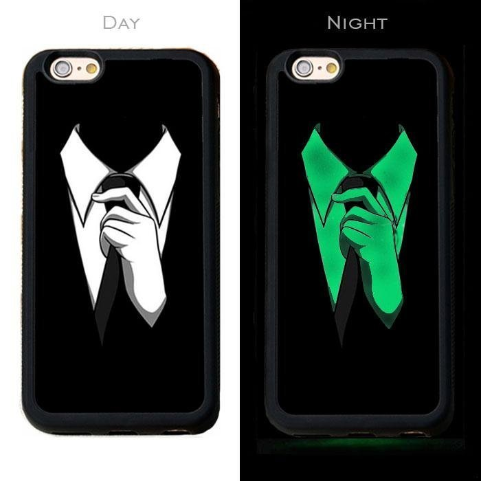 41aabcb0552 Mocco Telefoni ümbris Fashion Case Glow in The Dark Tie, sobib Apple iPhone  7 / 8 telefonile, must