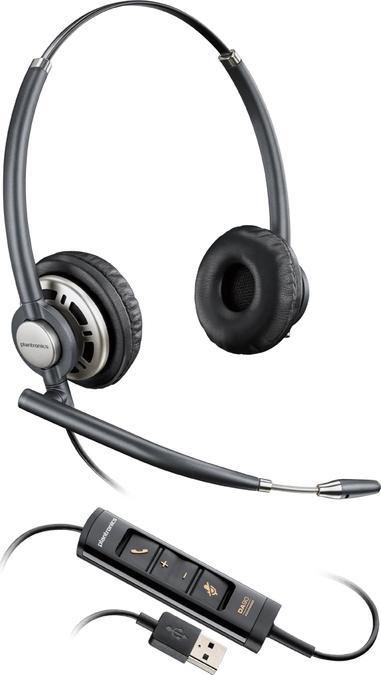 Plantronics EncorePro HW725 USB Binaural Headband Model mit USB Inline  control df2a8425f0