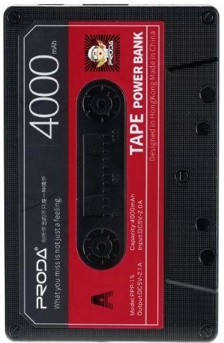 6b7759eae4a Remax Proda Old Audio Tape Design Power Bank 4000mAh Black
