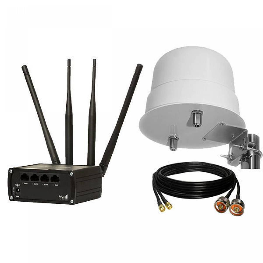 f1191e0ee01 Teltonika RUT950/L12-8-26-NF2/CC-NM-SM-10-D, RUT950 Mobile 4G/LTE Modem  Router + 12dBi Outdoor Antenna + 10m Cable,
