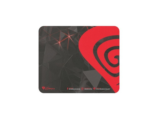 8c0447104d4 Natec Genesis Promo 2017 mouse pad in black and red 250x210mm