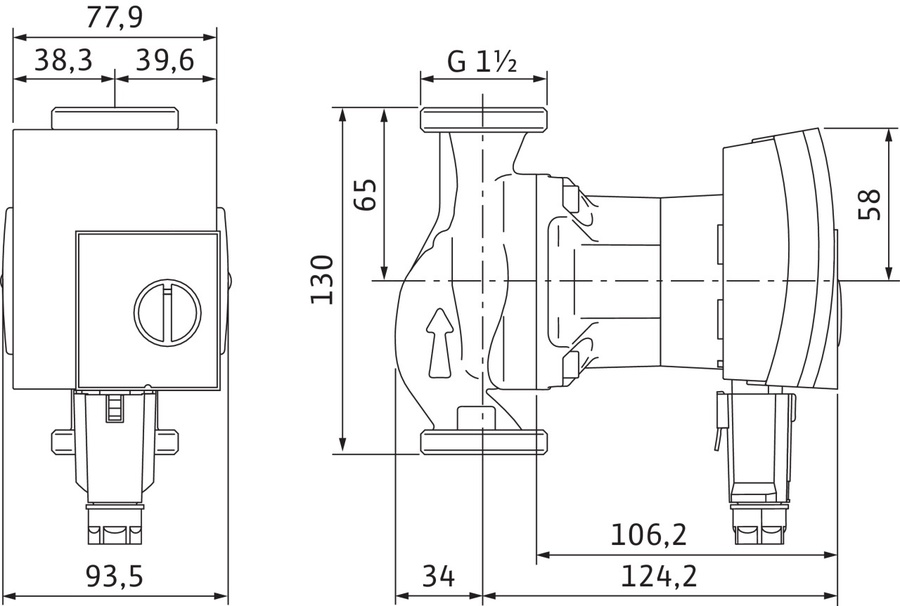 hinnavaatlus wilo tsirkulatsioonipump yonos 25 1 4 13. Black Bedroom Furniture Sets. Home Design Ideas