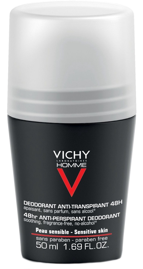 7594370eead Vichy Homme 48h Anti-Perspirant Roll On Deodorant for Sensitive Skin 50ml