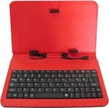56be41a0f78 Rebeltec kaaned Case for Tablet with a keyboard QUWERTY 7cal KS7 Red