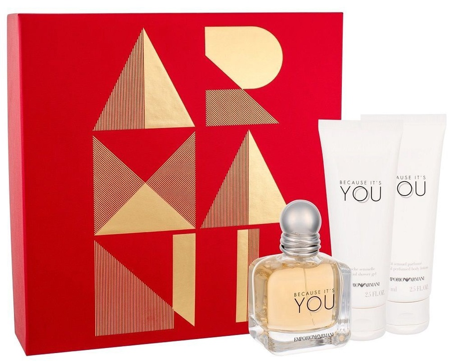 a833240af8d Giorgio Armani Emporio Armani Because It's You 50ml EDP + 75ml Body Lotion  + 75ml Shower