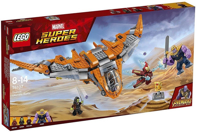 987a9b8932f Lego Super Heroes Thanos Ultimate Battle 76107