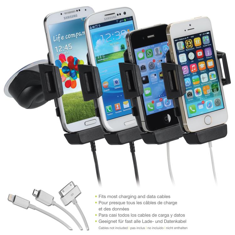 caf0580a800 iGRIP autohoidik Telefonihoidik autosse koos laadimise võimalusega,  universaalne, pööratav