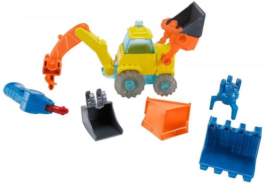 ce0e377ef2b Mattel Bob the Builder Talking Excavator Build Me FFX71